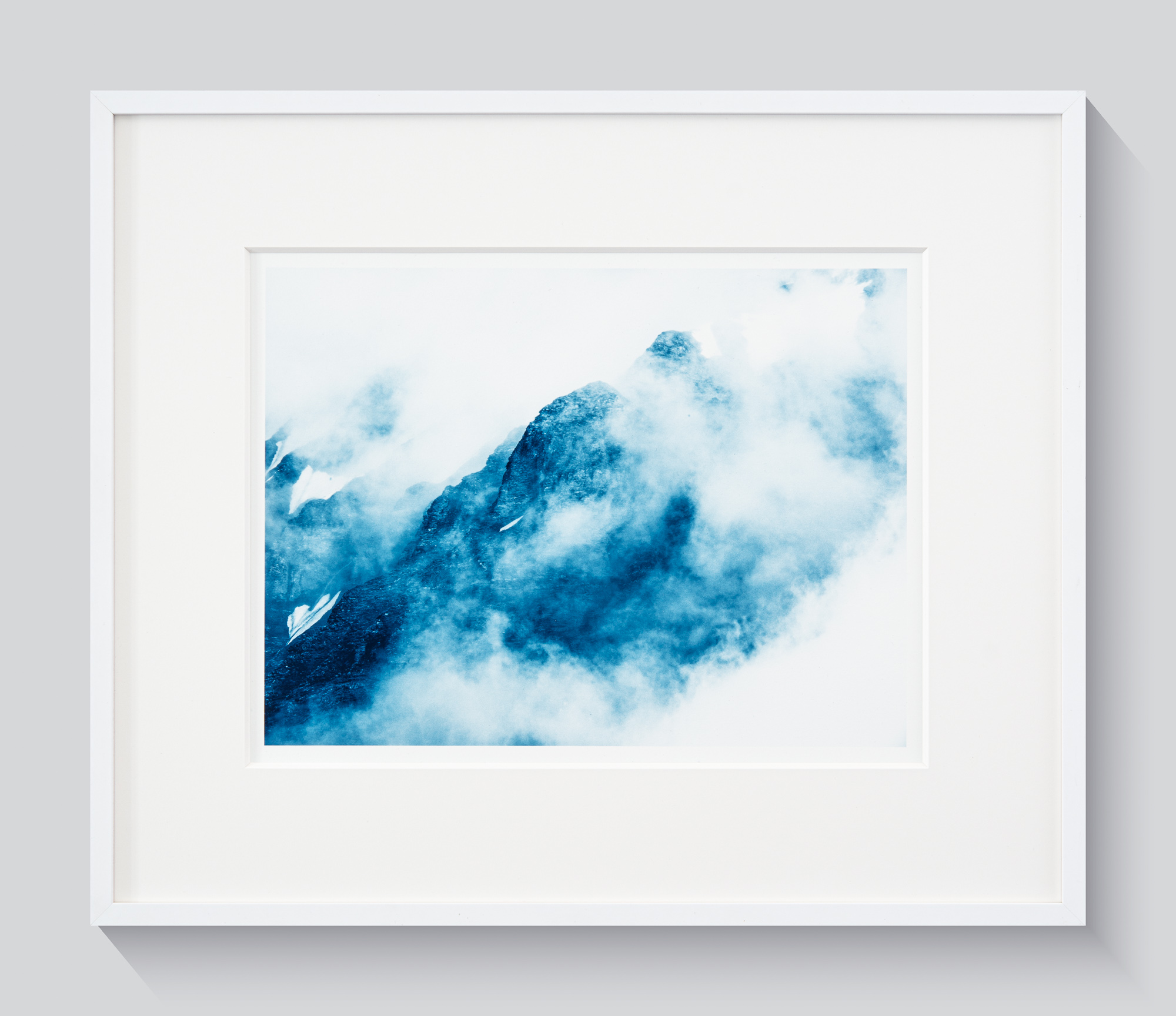 Mountains and clouds cyano