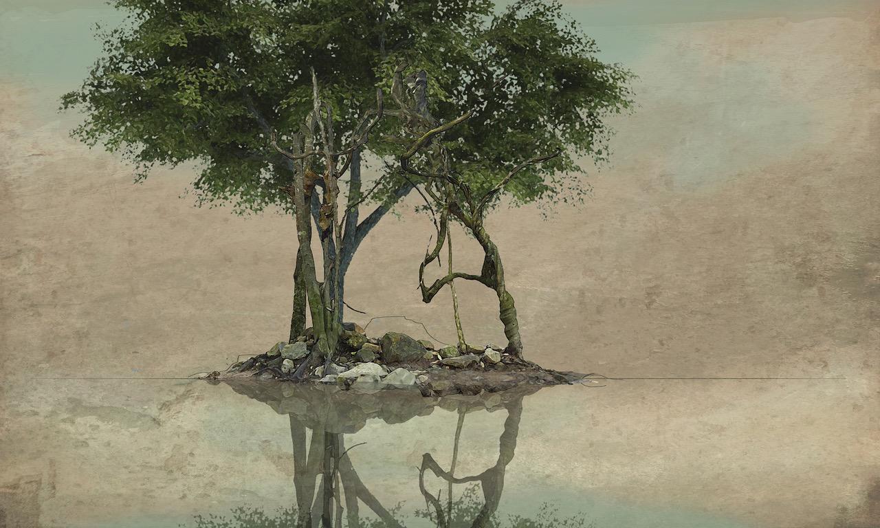 Etude pour Arbres au bord de l'eau VIIb