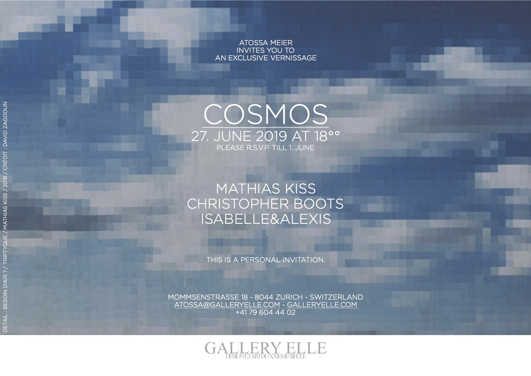 Isabelle & Alexis Photographie Blossom Galerie Daltra Zurich Cosmos Exhibition Mathias Kiss Christopher Boots Gallery Elle