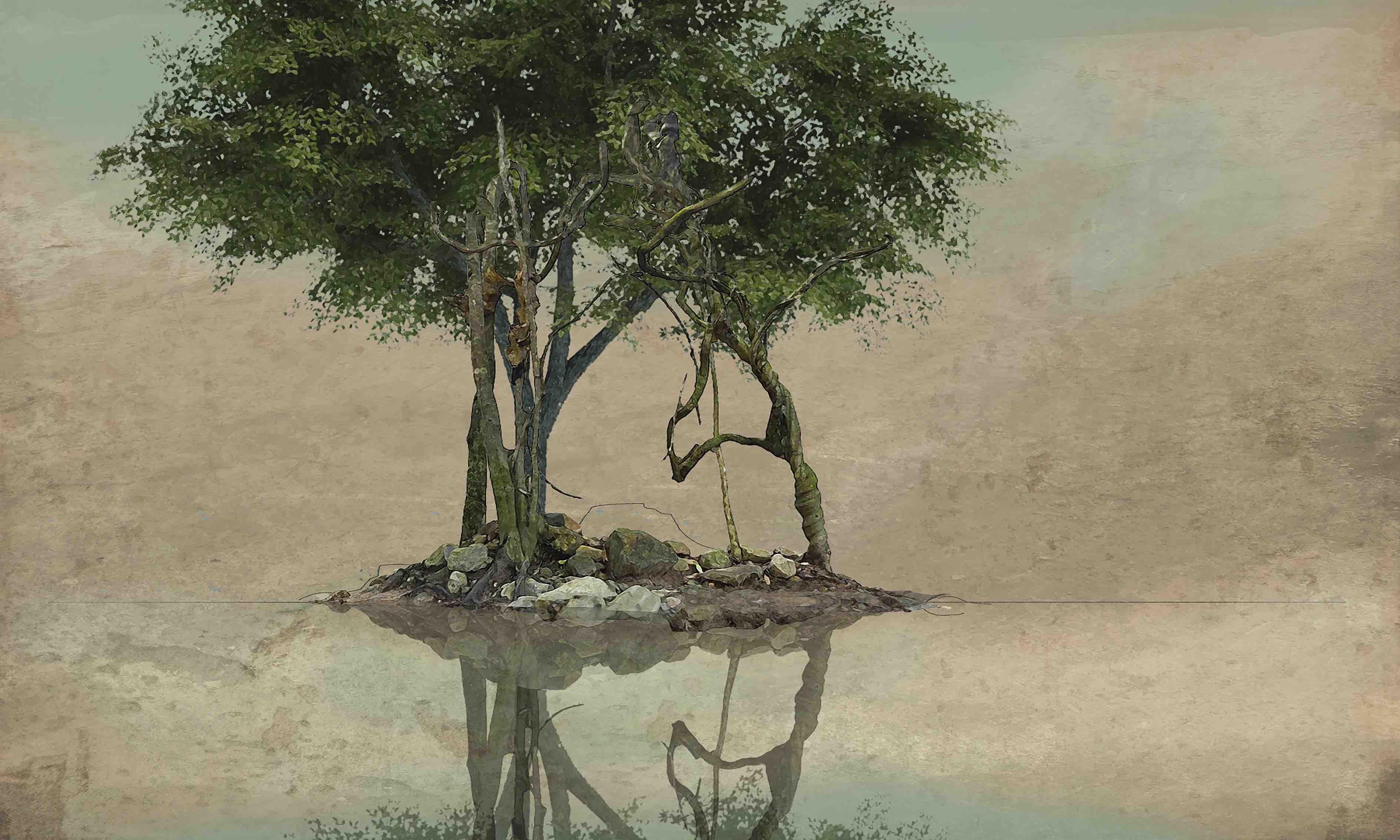 Etude pour Arbres au bord de l'eau VIIb – copie
